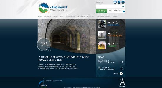Nouveau site Web Citadelle de GIvet, fort de Charlemont.