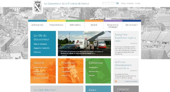 Nouveau site Web du Gouverneur de la Province de Namur